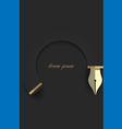Creative design in shape writing pen vector image