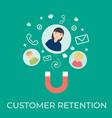 customer retention flat vector image vector image