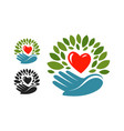 ecology environmental protection logo or label vector image vector image