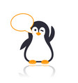 emoji with winking pinguin vector image