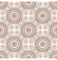 ethnic seamless pattern with circle ornament vector image