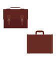 fashion mens leather bag briefcase diplomat vector image vector image