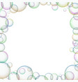 frame with soap bubbles vector image vector image