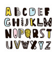 funny childish made with ink alphabet cute vector image vector image