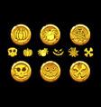 golden coin set cartoon coins vector image vector image