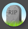 headstone icon in cartoon style funeral ceremony vector image