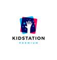 kid child take stars raising star hand care logo vector image vector image