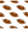 Leather brown rugby balls seamless pattern vector image