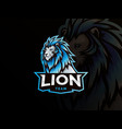 lion mascot sport style logo vector image vector image