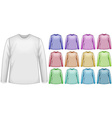 Long sleeves shirts vector image vector image