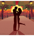 Love in the evening vector image vector image