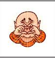 lovely buddha folded fingers in shape of heart vector image vector image