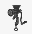 manual retro meat grinder symbol vector image vector image