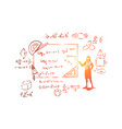mathematician with pointer vector image vector image