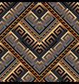 meanders 3d seamless pattern abstract geometric vector image vector image