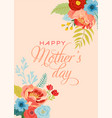 mothers day greeting card with flowers bouquet vector image vector image