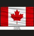 national flag of canada vector image vector image