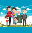 of happy family vector image vector image