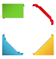origami corner ribbons vector image vector image
