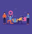 people teamwork flat design image vector image vector image