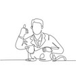 pet health care concept one line drawing young vector image