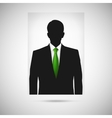 Profile picture whith green tie Unknown person vector image