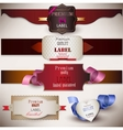 Quality Satisfaction Guarantee Set vector image vector image