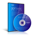 Realistic Case for DVD Or CD Disk vector image vector image
