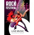 Rock Festival Cartoon Poster vector image vector image