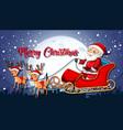 santa claus merry christmas template vector image vector image