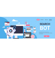 search bot seo engine optimization application vector image vector image