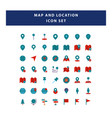 set map and navigation icon with flat style vector image