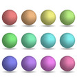 set of colorful realistic spheres isolated on vector image