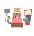 sick people couple in bed vector image