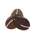 simple icon with three coffee bean flat design vector image