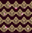 square pattern golden sparkle eastern pattern vector image vector image