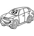 suv car cartoon coloring page vector image vector image