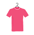 t-shirt in colorful on white background vector image vector image