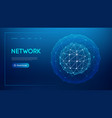 technology sphere cloud network abstract vector image