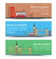 templates banners for tourism in london vector image