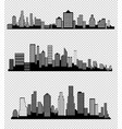 The silhouette of the city in a flat style modern