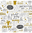 typographical seamless pattern with vector image vector image