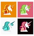 unicorn cute - card and shirt design cartoon vector image vector image