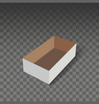 white cardboard box mock up vector image vector image