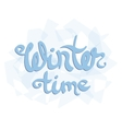 wnter time quote vector image vector image