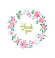 floral round embroidery frame vector image