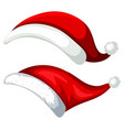 a santa hat on white background vector image