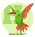abc cartoon hummingbird vector image vector image