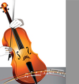 Abstract cello and musician vector image vector image