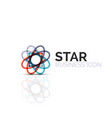 abstract flower or star minimalistic linear icon vector image